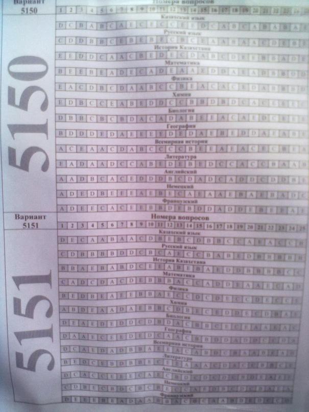 ответы на ент 2011 ватиант 8024